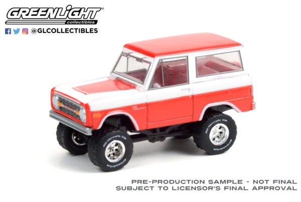 37230d - 1977 Ford Bronco Custom (Lot #847) - Red and White
