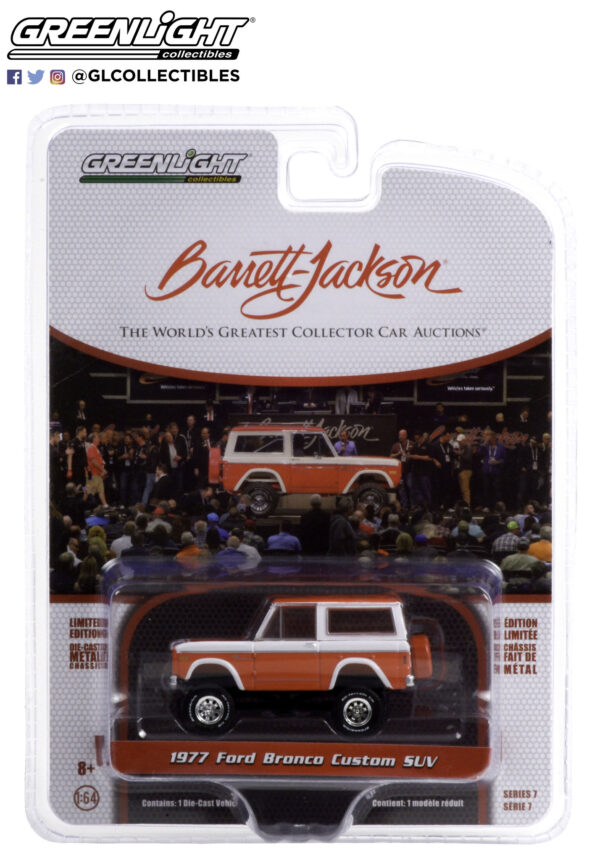37230d1 - 1977 Ford Bronco Custom (Lot #847) - Red and White