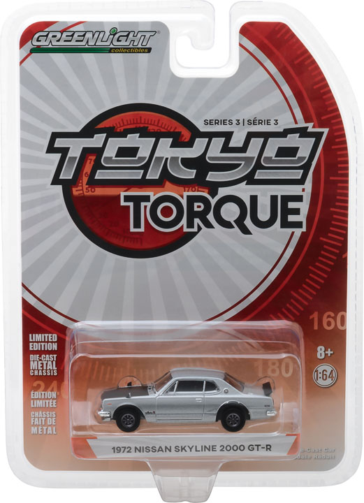 47010c - 1972 NISSAN SKYLINE 2000 GT-R - SILVER - TOKYUO TORQUE SERIES 3