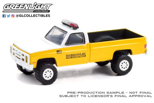 67010 c 1987 chevrolet m1008 4x4 sturgeon lake minnesota fire department deco b2b1 - 1987 Chevrolet M1008 4x4 Pick Up Truck - Sturgeon Lake, Minnesota Fire Department