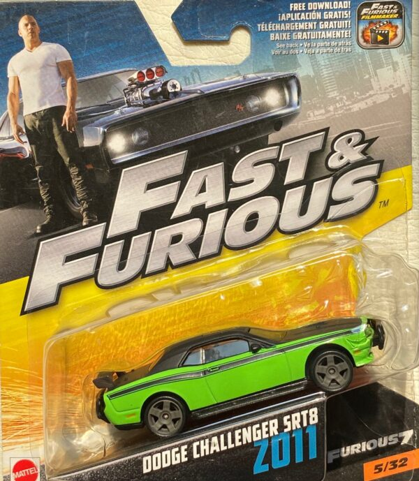 fcf40 - 2011 DODGE CHALLENGER SRT8 - FAST & FURIOUS - FURIOUS 7 IN 1:55 SCALE #5/32