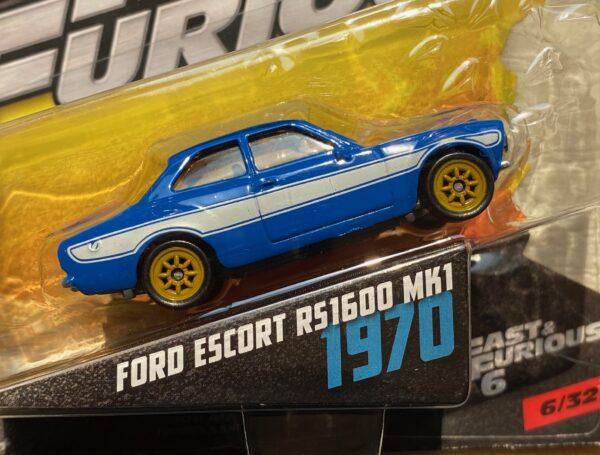 fcf41 1 - 1970 FORD ESCORT RS1600 MK1 (FAST & FURIOUS) FAST & FURIOUS 6 IN 1:55 SCALE