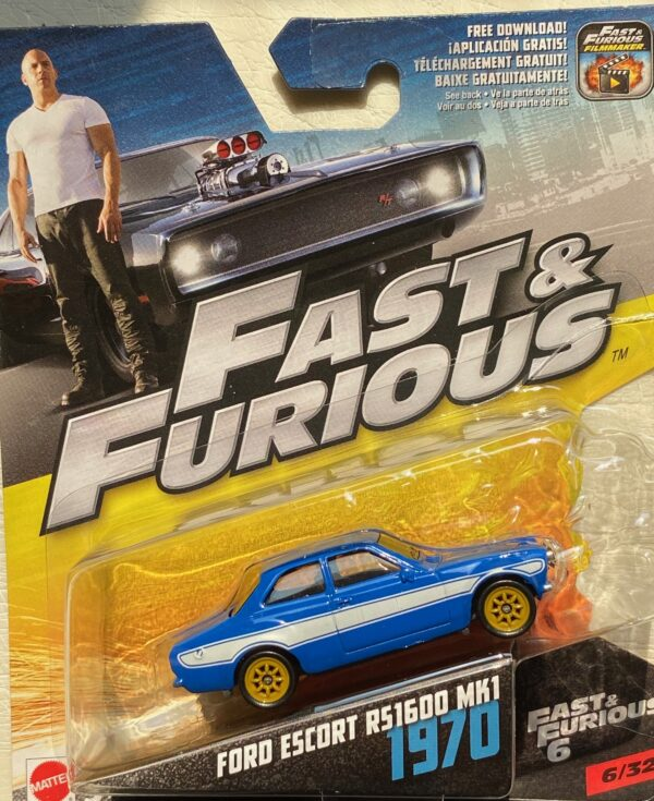 fcf41 - 1970 FORD ESCORT RS1600 MK1 (FAST & FURIOUS) FAST & FURIOUS 6 IN 1:55 SCALE