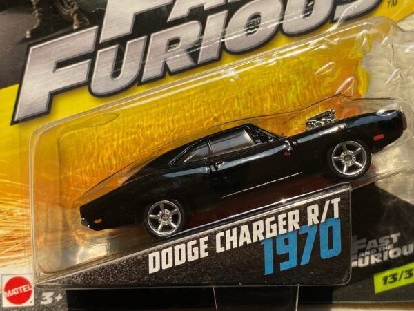 fcf48 1 - 1970 DODGE CHARGER R/T W/BLOWER IN THE FAST AND THE FURIOUS 1:55 SCALE #13/32