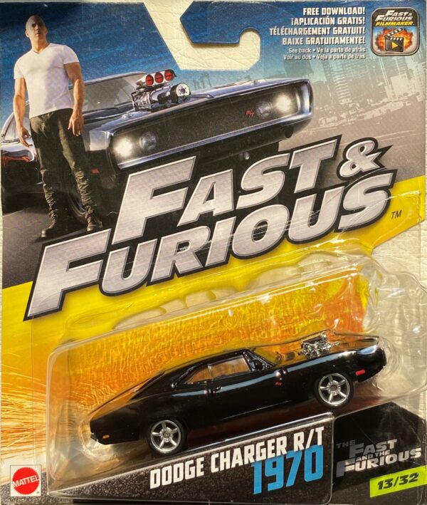 fcf48 - 1970 DODGE CHARGER R/T W/BLOWER IN THE FAST AND THE FURIOUS 1:55 SCALE #13/32