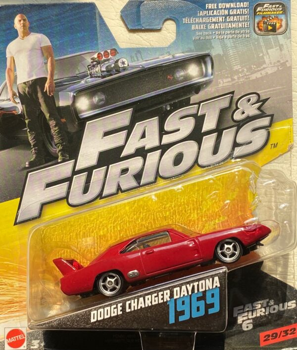 fcn86 - 1969 DODGE CHARGER DAYTONA - FAST & FURIOUS 6 IN 1:55 SCALE #29/32