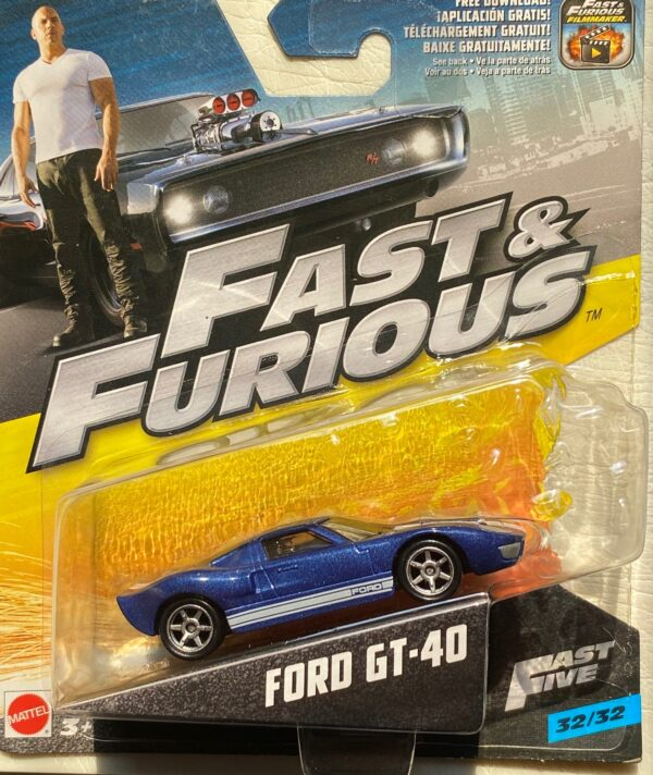 fcn88 - FORD GT-40 - FAST & FURIOUS - FAST FIVE 32/32 IN 1:55 SCALE