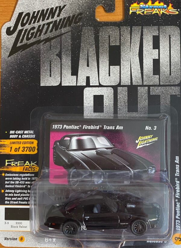 jlcp7121 - 1973 PONTIAC FIREBIRD TRANS AM - BLACKED OUT - JOHNNY LIGHTNING STREET FREAKS