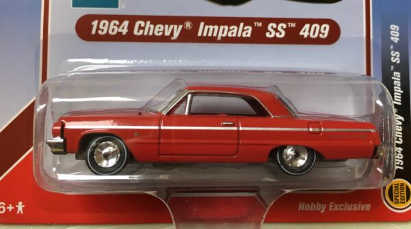 rcsp012 1 - 1964 CHEVROLET IMPALA SS 409 HARD TOP, RED WITH RED INTERIOR