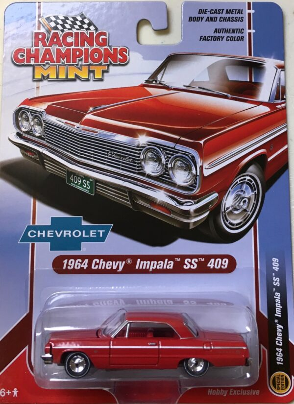 rcsp012 2 - 1964 CHEVROLET IMPALA SS 409 HARD TOP, RED WITH RED INTERIOR